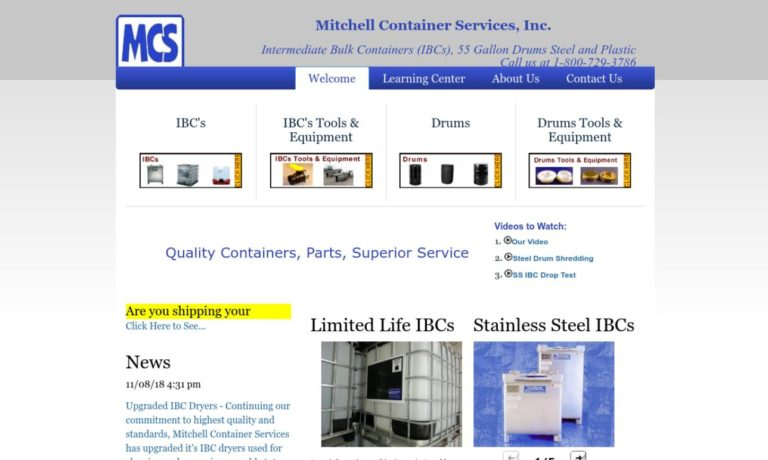 Mitchell Container Services, Inc.